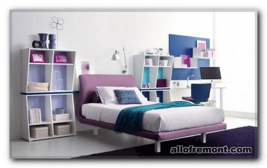 Ніжні кольори в кімнаті підлітка