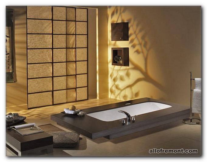 Ванна кімната в японському / східному стилі