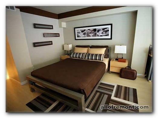 Коричневий Колір в інтер'єрі спальні