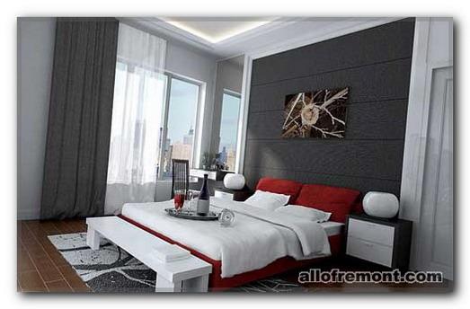 Спальня в сіріх тонах