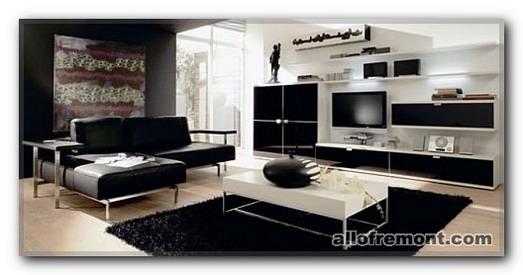 Чорно-біла кімната відпочинку
