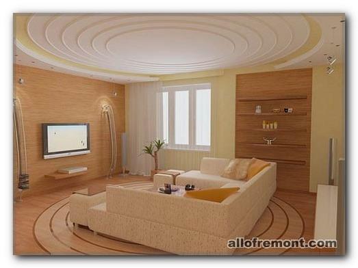Дизайн стель у вітальні