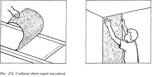 Обклеювання шпалерами.