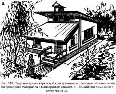 Садовий будиночок з непридатного матеріалу