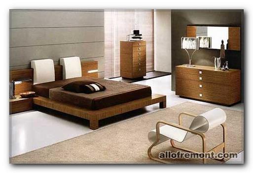 Інтер'єр спальні в японського стілі
