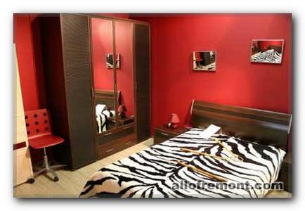 Шкури в інтер'єрі спальні