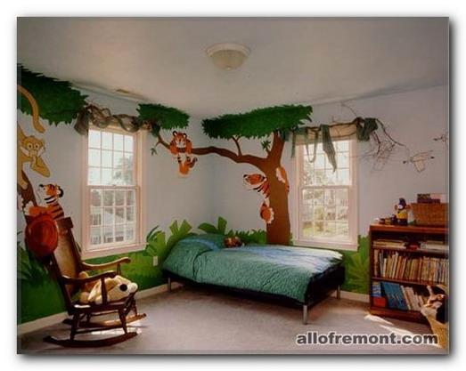 Джунглі в дитячій кімнаті