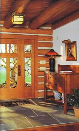 Дизайн стилю мистецтва і ремесла в інтер'єрах дерев'яних будинків
