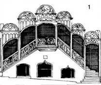 Зовнішні сходи і тераси. Ренесанс / бароко
