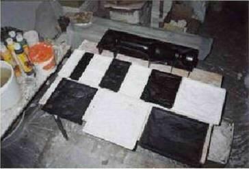 Технологія виробництва гіпсової плитки імітує природний камінь